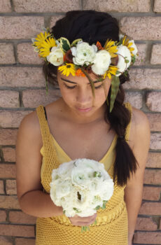 White Yellow Flowers Crown