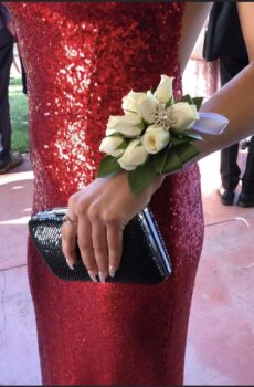 White Cut Flowers Corsage