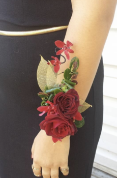 Sexy Red Rose Corsage